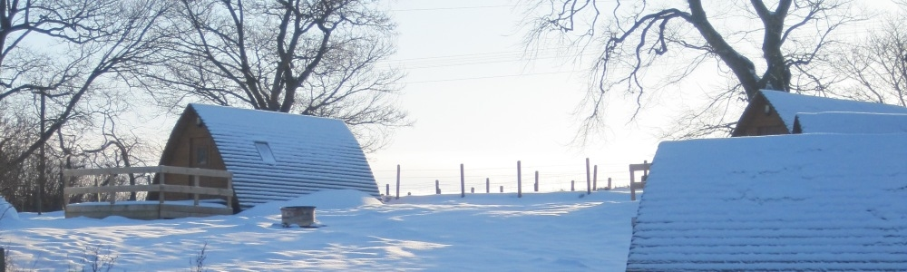 Wigwams in the snow